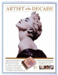 ARTIST OF THE DECADE - USA PROMO DISPLAY COUNTER STAND